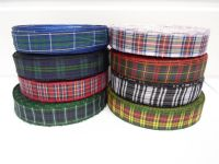 Menzies Black & White Tartan Ribbon 2 metres or 25 metres (Full Roll) double sided scotish 12mm, 16mm, 25mm & 38mm